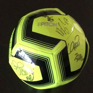 Nike Pitch Team training soccer ball signed